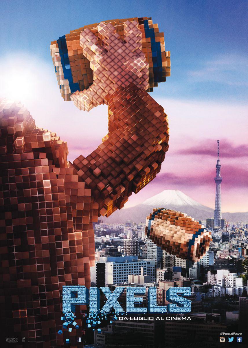 Pixels: il character poster italiano dell'invasione aliena di Donkey Kong