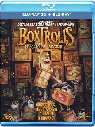 La cover del blu-ray di Boxtrolls