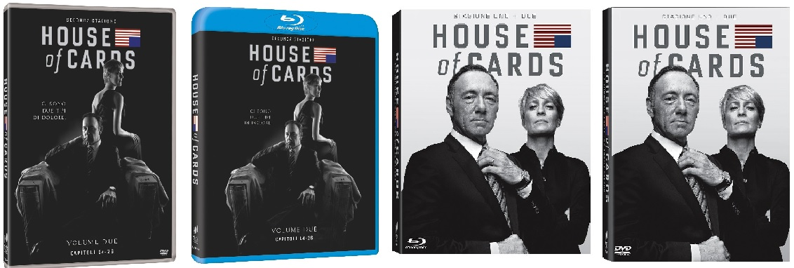 Le cover homevideo di House of Cards - Stagione 2