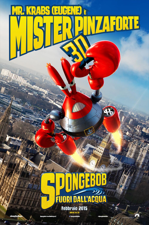 SpongeBob - Fuori dall'acqua: il character poster italiano di Mr. Krabs
