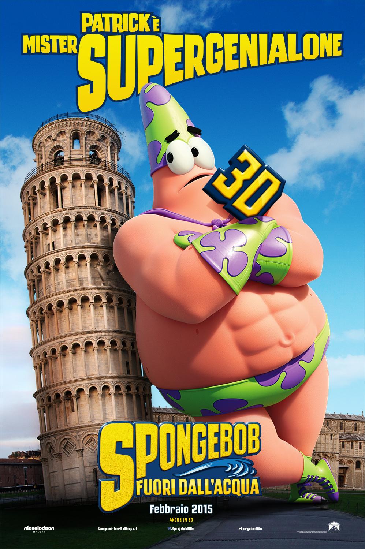 SpongeBob - Fuori dall'acqua: il character poster italiano di Patrick