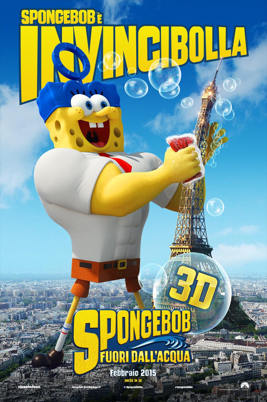 SpongeBob - Fuori dall'acqua: il character poster italiano di SpongeBob