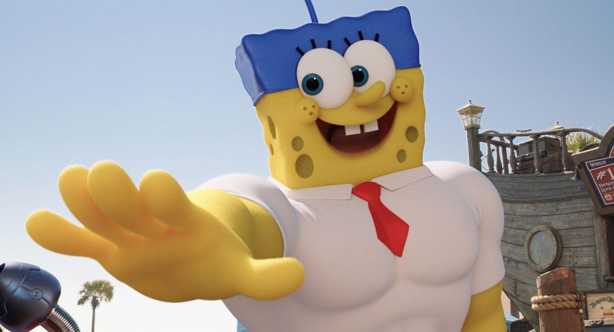 SpongeBob - Fuori dall'acqua: SpongeBob in una scena del film animato