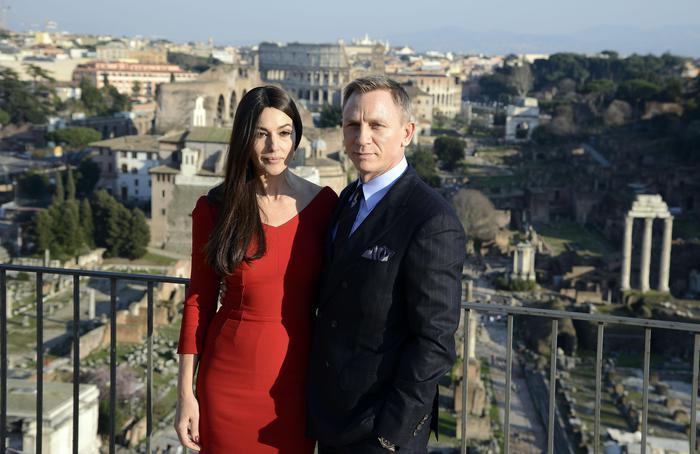 Spectre: Monica Bellucci e Daniel Craig a Roma per le riprese del nuovo film di 007