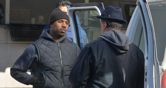Creed: Sylvester Stallone e Michael B. Jordan sul set