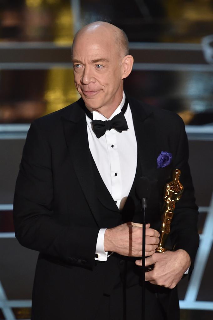 J.K. Simmons ritira l'Oscar per Whiplash nel 2015