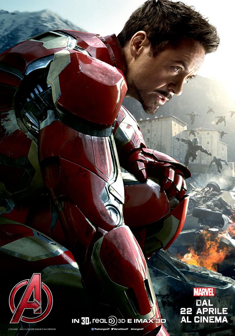 Avengers: Age of Ultron, il character poster italiano di Iron Man