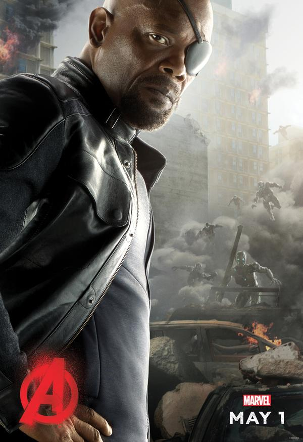 Avengers: Age of Ultron - il character poster di Nick Fury