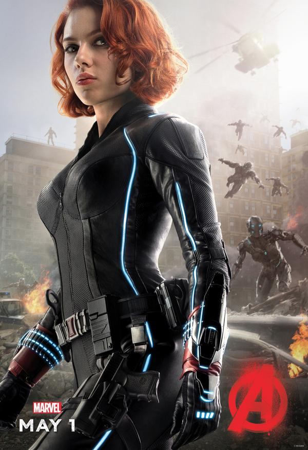 Avengers: Age of Ultron - Il character poster di Vedova Nera