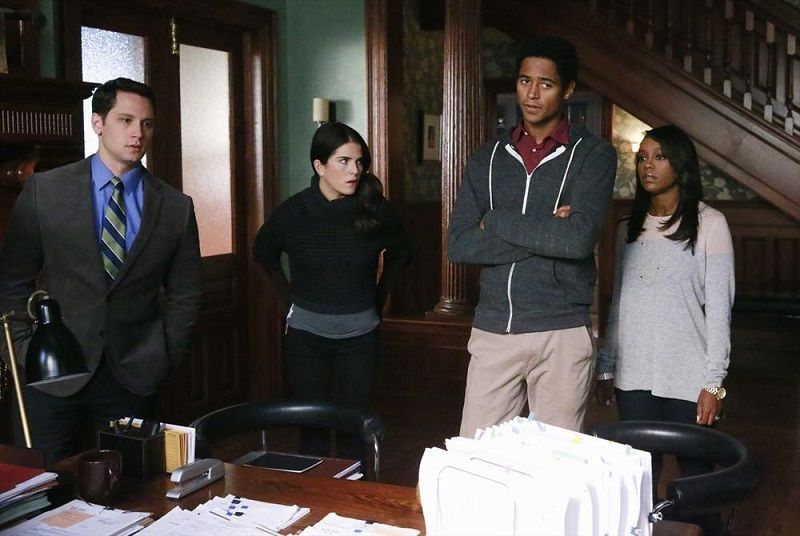 How To Get Away With Murder: Matt McGorry, Karla Souza, Alfred Enoch e Aja Naomi King in Best Christmas Ever