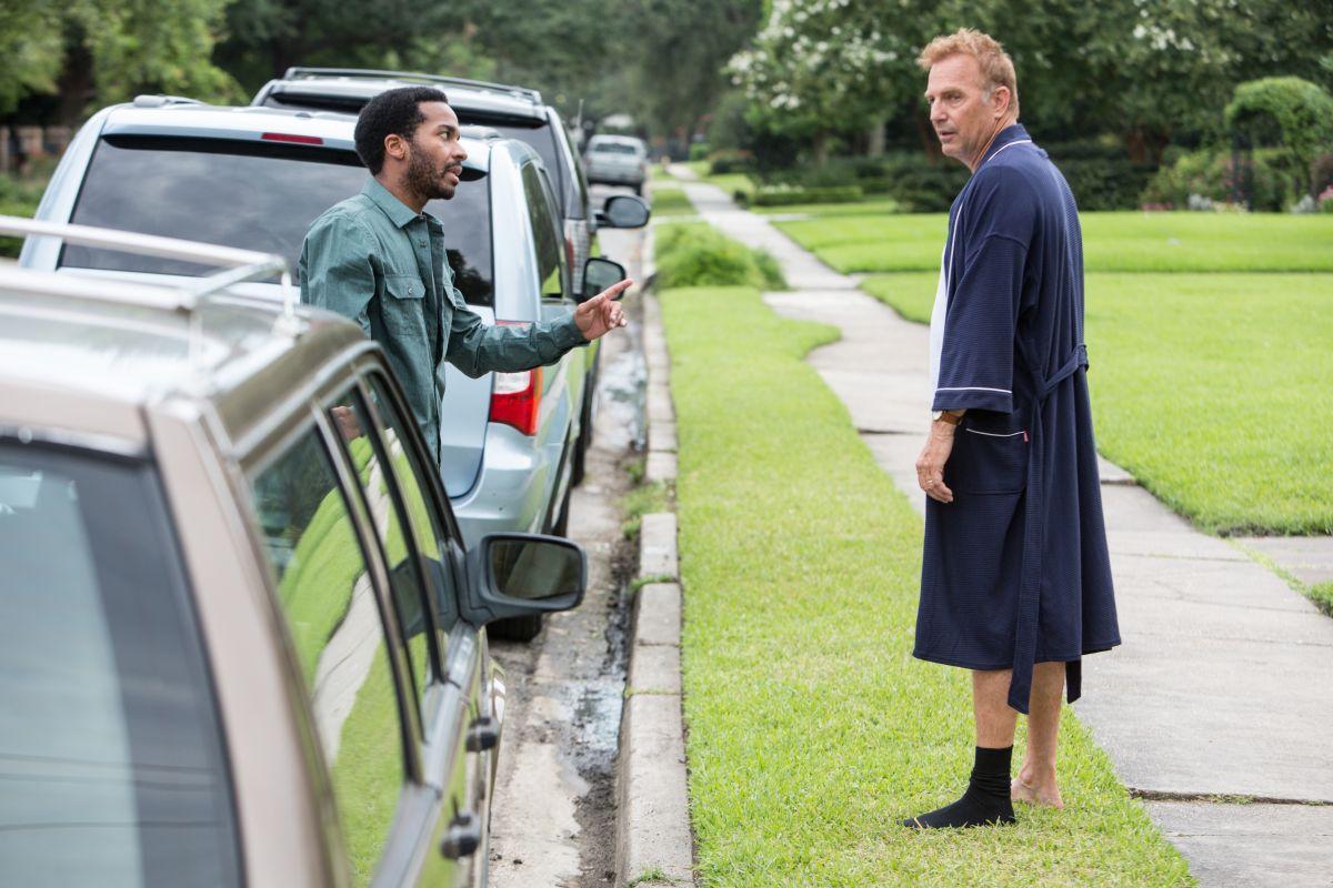 Black or White: Kevin Costner discute con André Holland in una scena