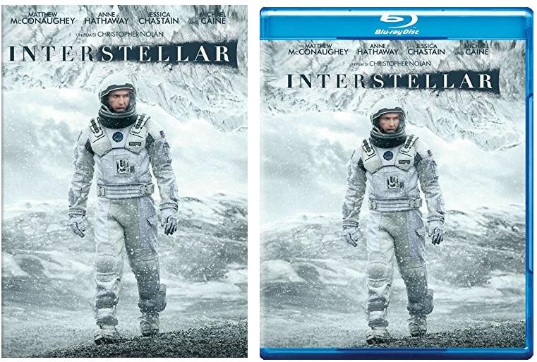 Le cover homevideo di Interstellar