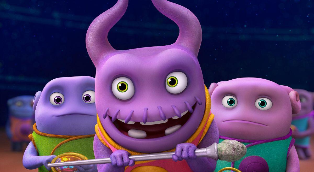 Home - A casa: Oh, il piccolo alieno viola, in una scena del film d'animazione