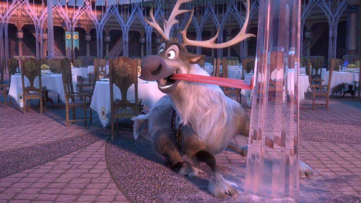 Frozen Fever: la renna Sven in una scena del corto