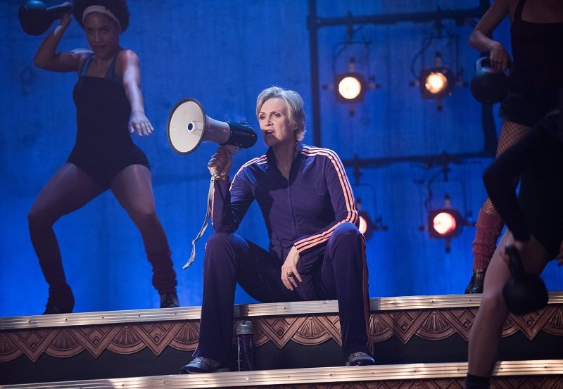 Glee: una scena con protagonista Jane Lynch in The Rise and Fall of Sue Sylvester