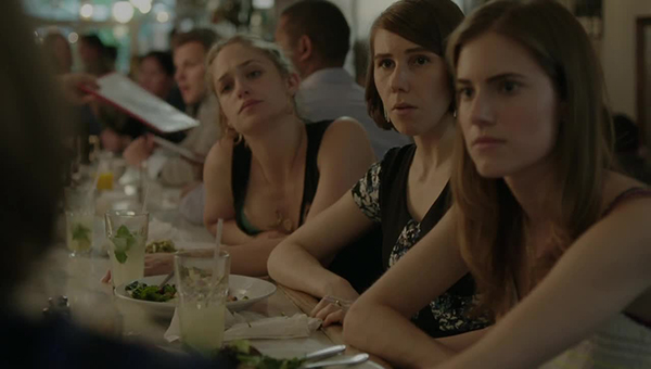 Girls: le attrici Jemima Kirke, Zosia Mamet e Allison Williams nell'episodio Close Up
