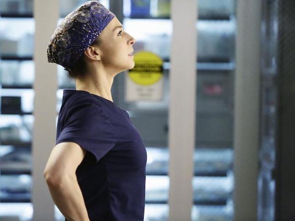 Grey's Anatomy: la dottoressa Amelia Shepherd (Caterina Scorsone) nell'episodio The Distance
