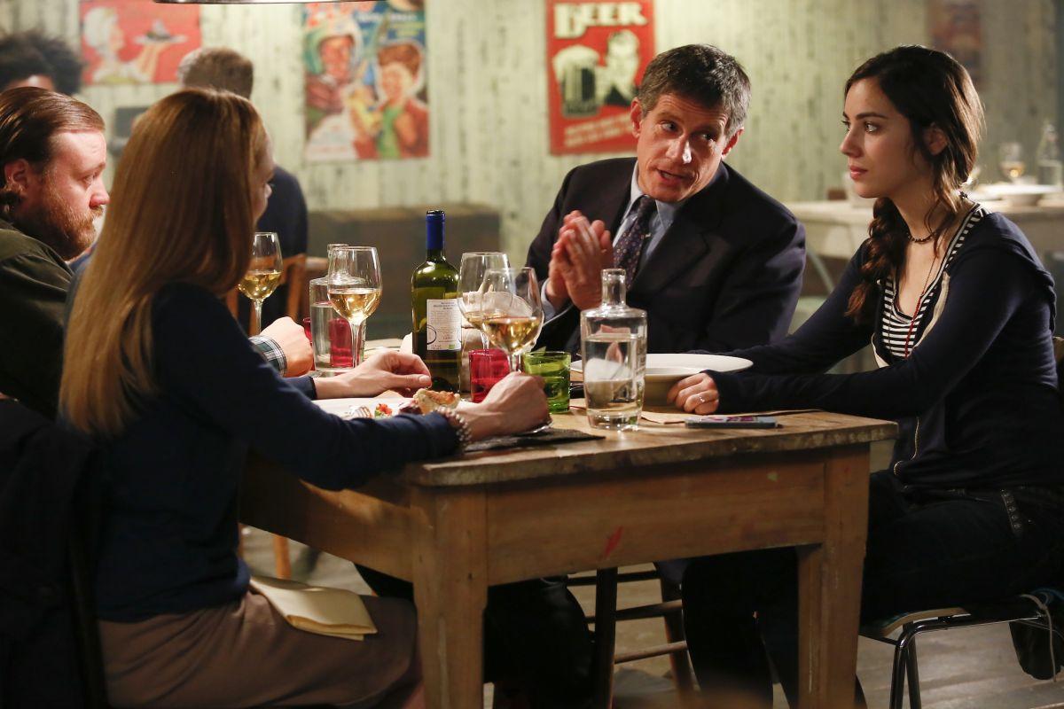 La prima volta di mia figlia: Riccardo Rossi con Stefano Fresi, Fabrizia Sacchi e Benedetta Gargari in una scena del film