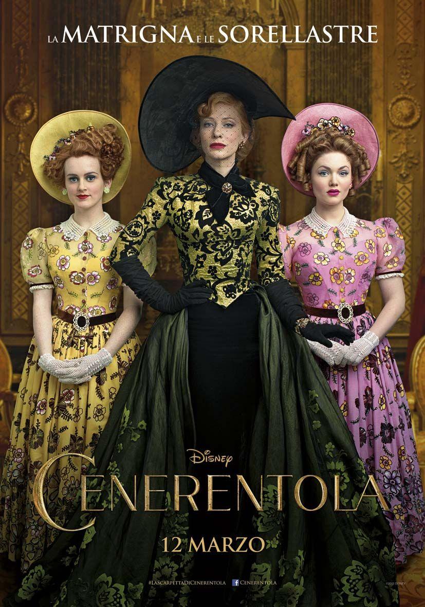 Cenerentola: il character poster della matrigna e le sorellastre