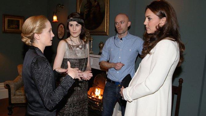 Downton Abbey: Kate Middleton con il cast