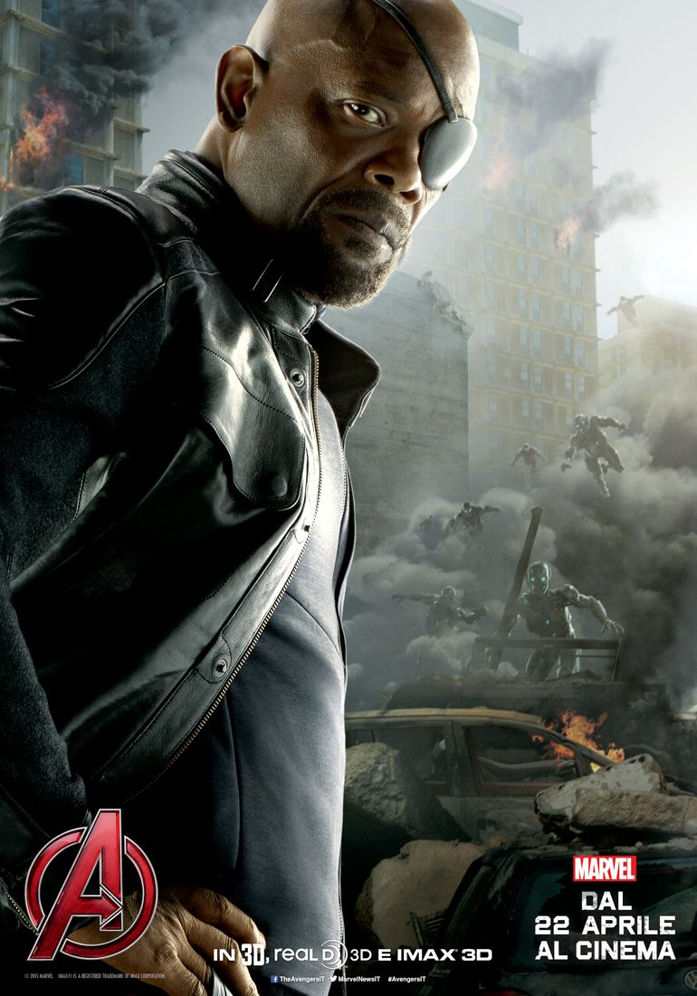 Avengers: Age of Ultron, il character poster italiano di Nick Fury