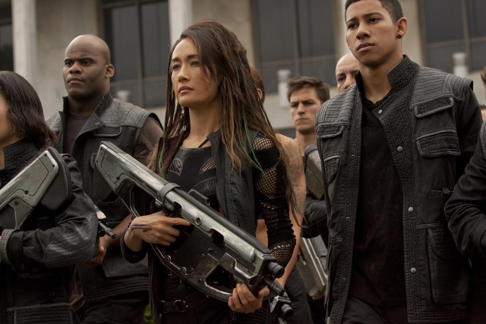 The Divergent Series - Insurgent: Maggie Q in una scena