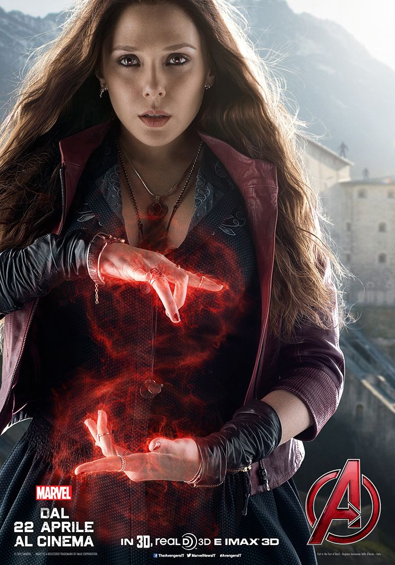 Avengers: Age of Ultron: il character poster italiano di Scarlet Witch