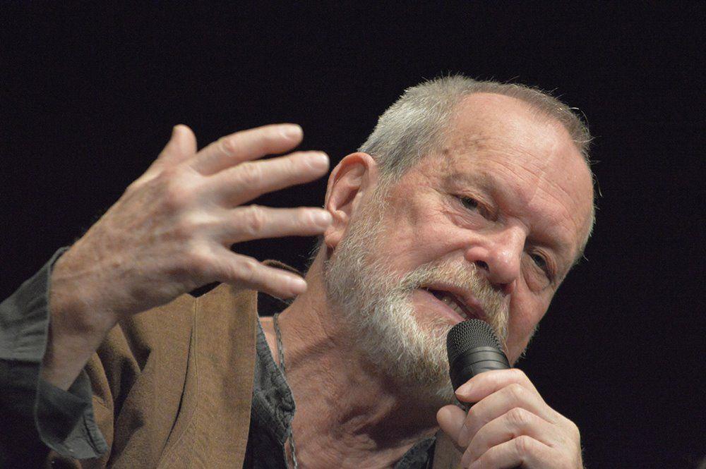 Terry Gilliam, insignito di un premio al Lucca Film Festiva, parla durante l'incontro con il pubblico