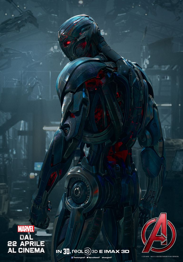 Avengers: Age of Ultron: il character poster italiano di Ultron