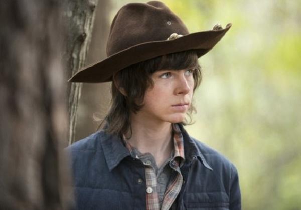 The Walking Dead: Chandler Riggs in una scena dell'episodio intitolato Try