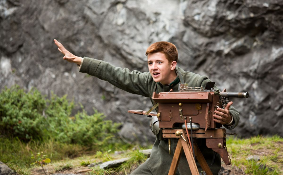 Soldato semplice: Antonio Orefice in una scena del film