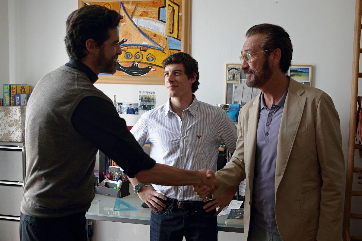 Se Dio Vuole: Alessandro Gassman con Enrico Oetiker e Marco Giallini in una scena