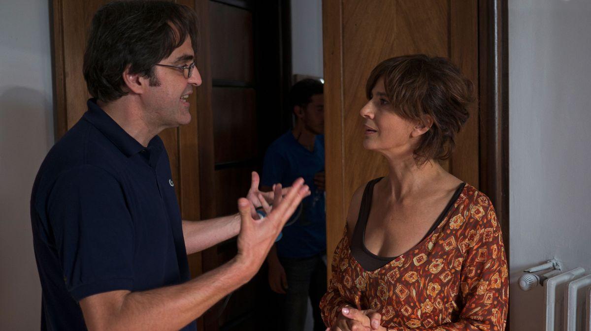 Se Dio Vuole: Laura Morante sul set col regista Edoardo Falcone