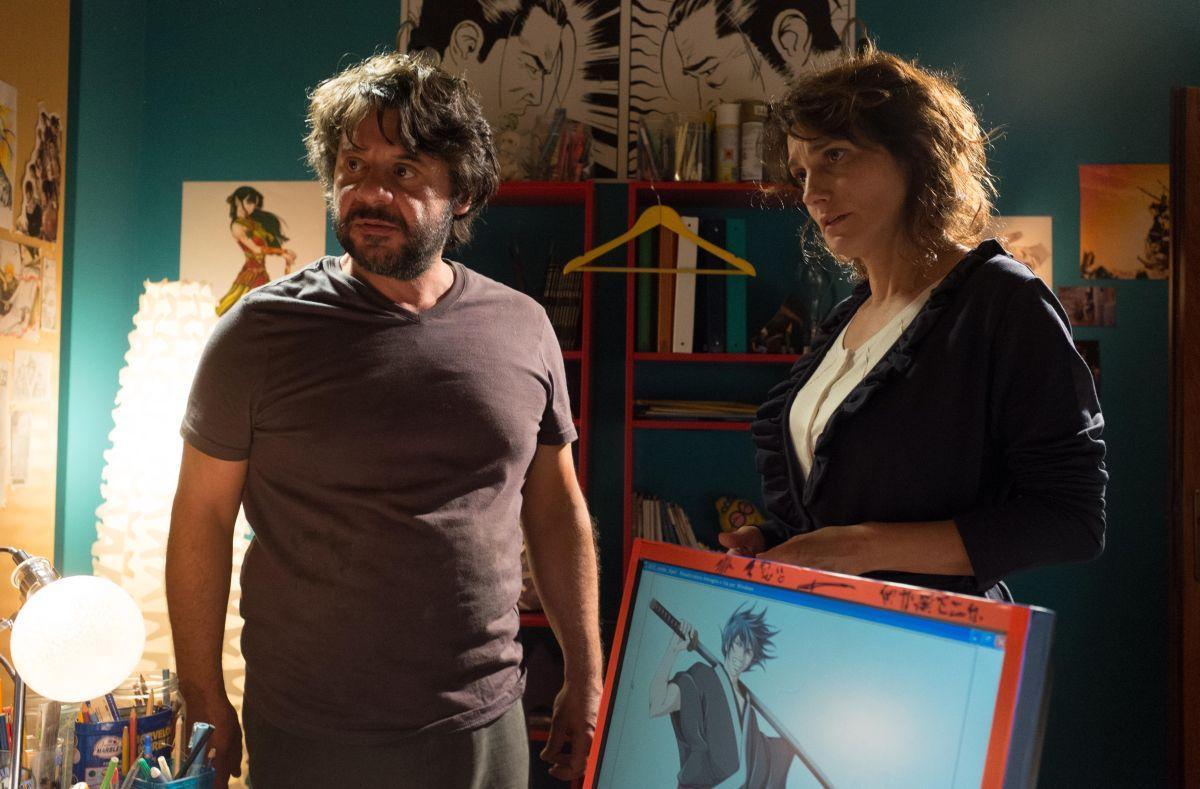 Tempo instabile con probabili schiarite: Lorenza Indovina con Pasquale Petrolo in una scena del film