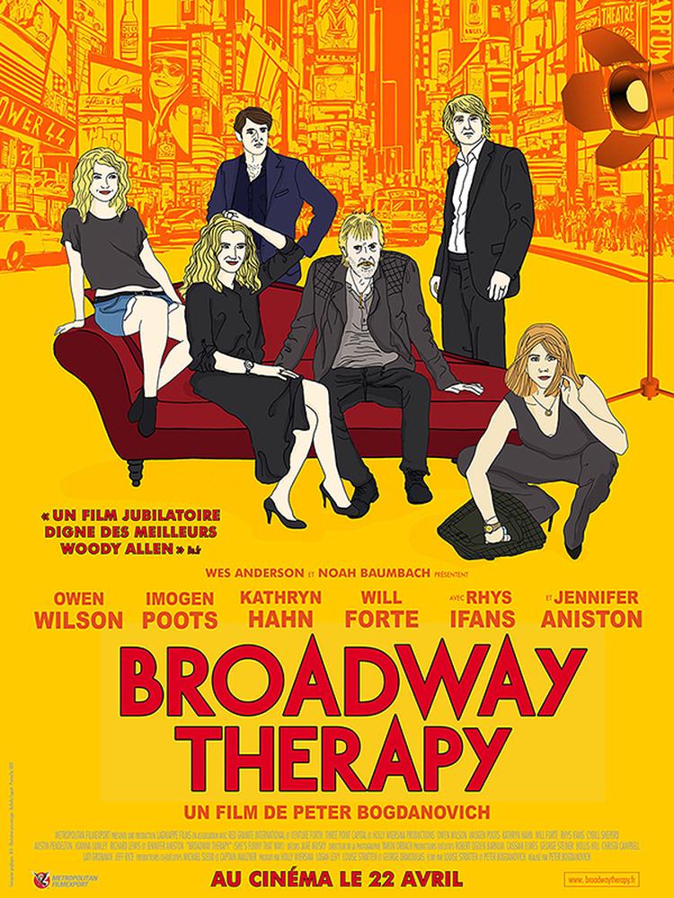 Locandina francese di Tutto può accadere a Broadway