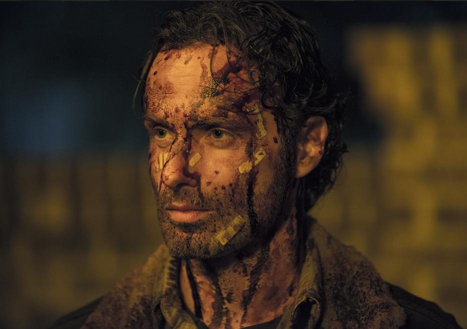 The Walking Dead: un primo piano di Andrew Lincoln dal finale della stagione 5