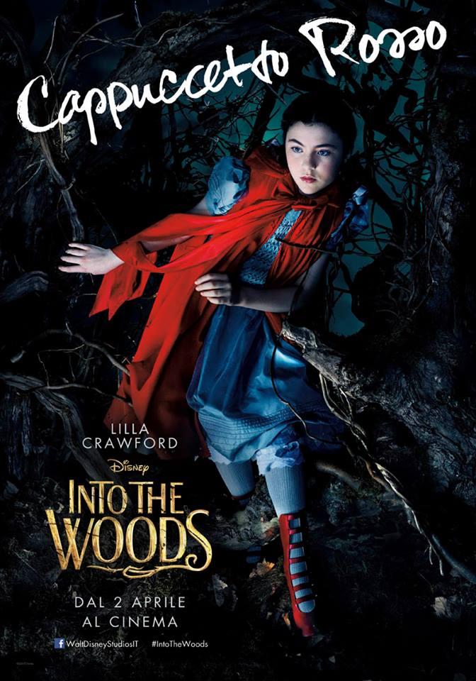 Into the Woods: Lilla Crawford nel character poster italiano di Cappuccetto Rosso