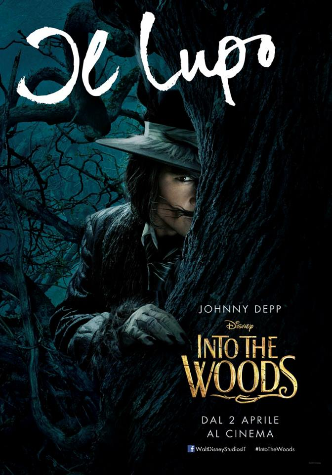 Into the Woods: Johnny Depp nel character poster italiano del Lupo