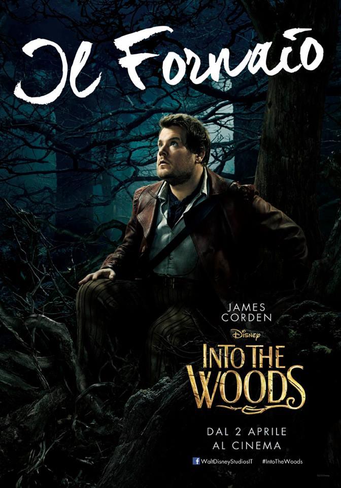Into the Woods: James Corden nel character poster italiano del Fornaio