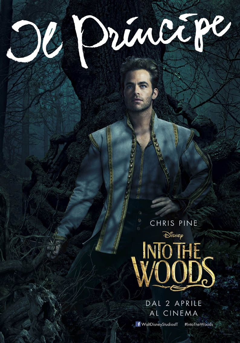 Into the Woods: il character poster italiano del Principe interpretato da Chris Pine
