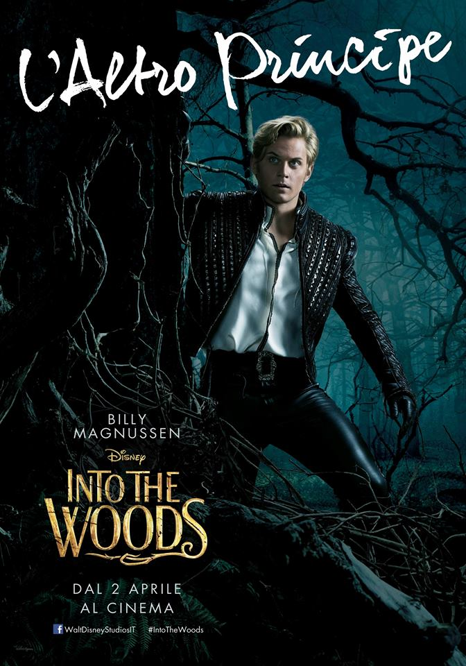 Into the Woods: Billy Magnussen nel character poster italiano de L'altro Principe