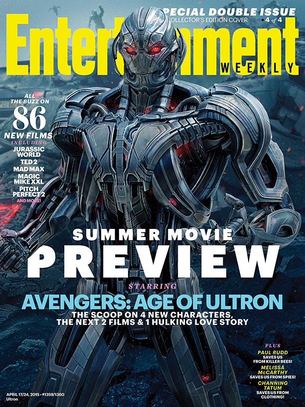 Avengers: Age of Ultron: Ultron sulla copertina di Entertainment Weekly