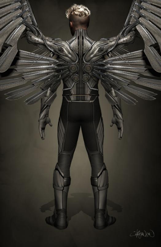 X-Men: Apocalypse - Un concept art di Angel