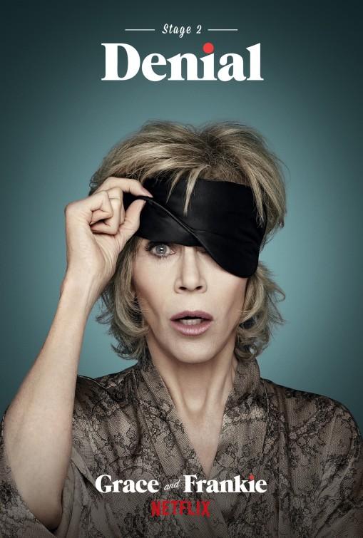 Grace and Frankie: Jane Fonda in una locandina