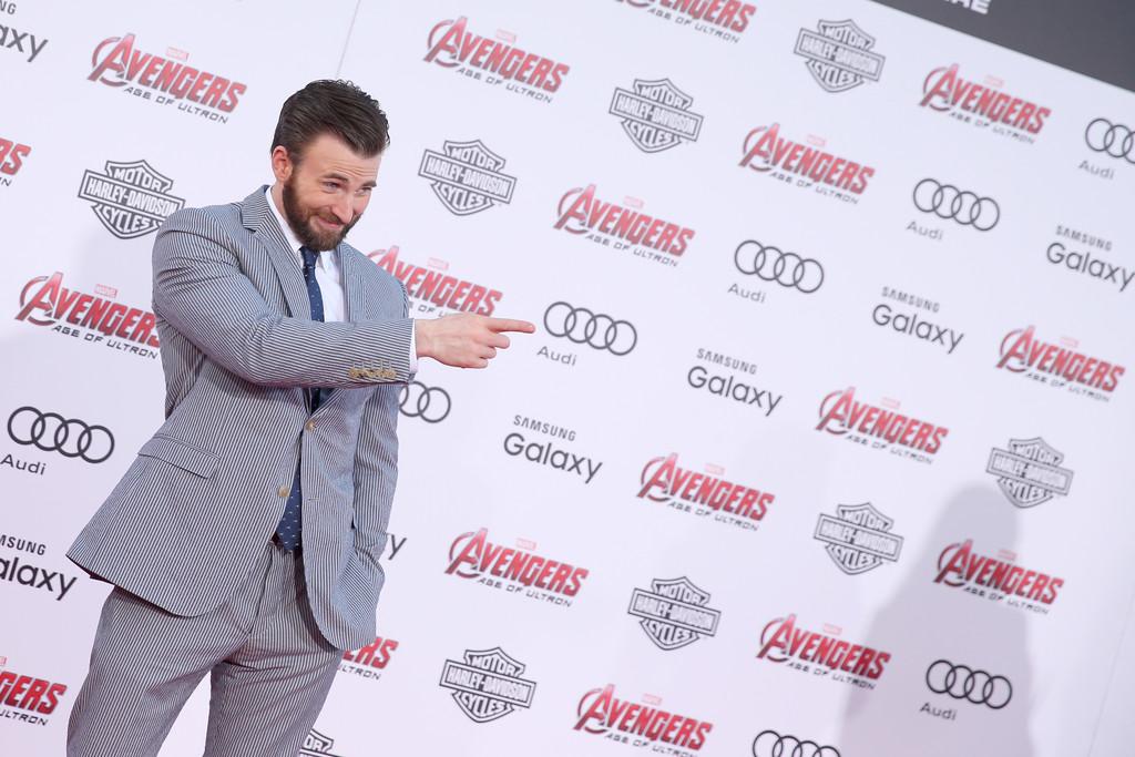 The Avengers: Age of Ultron - Chris Evans alla premiere