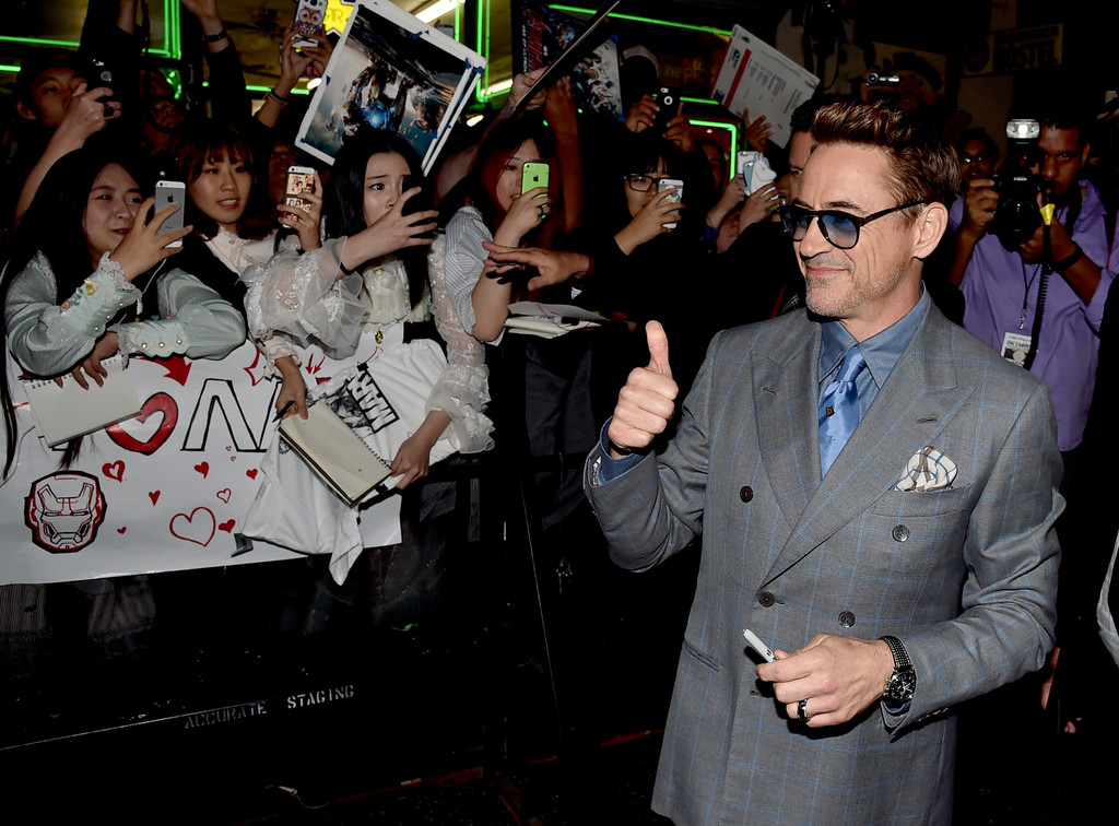 The Avengers: Age of Ultron - Robert Downey alla premiere
