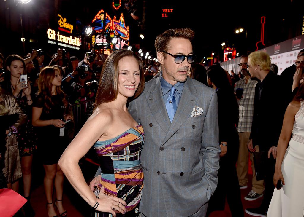 The Avengers: Age of Ultron - Robert Downey jr. e sua moglie Susan alla premiere