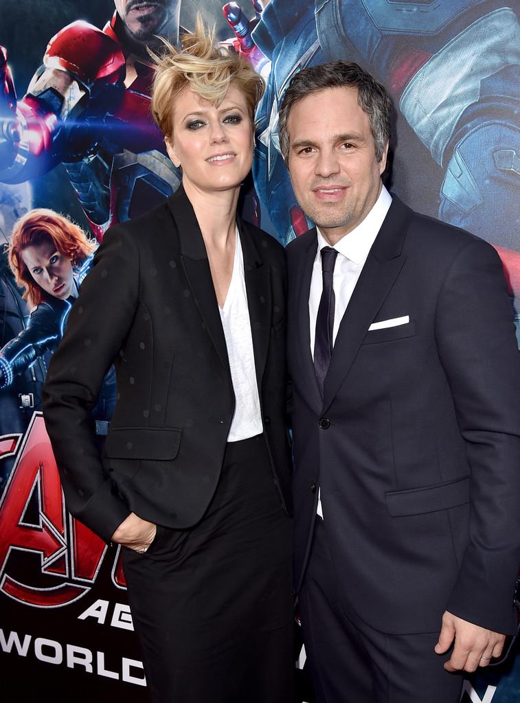 The Avengers: Age of Ultron - Mark Ruffalo con Sunrise Coigney alla premiere