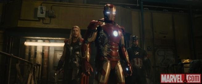Avengers: Age of Ultron - Una foto di Thor, Iron Man e Captain America