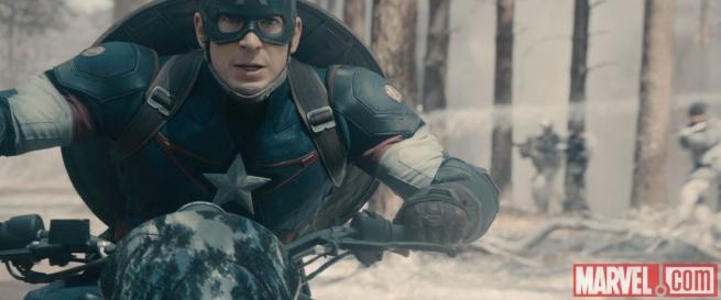 Avengers: Age of Ultron - Captain America in una scena del film